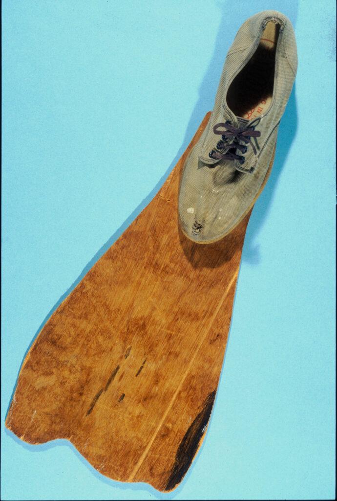 first fin, wooden fin